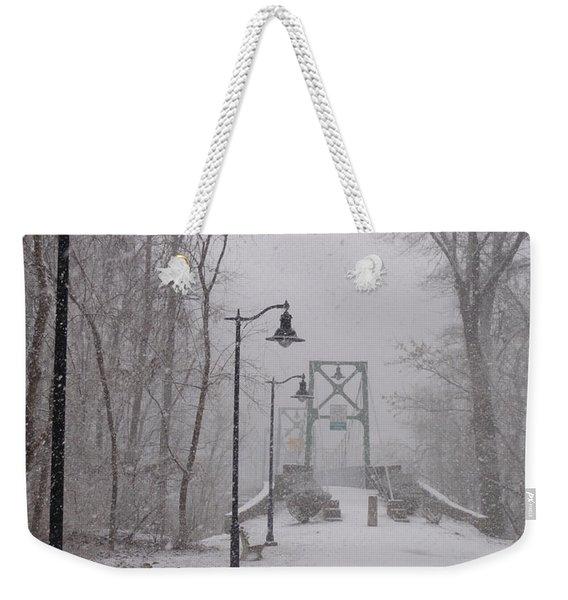 Snow At Bulls Island - 05 Weekender Tote Bag