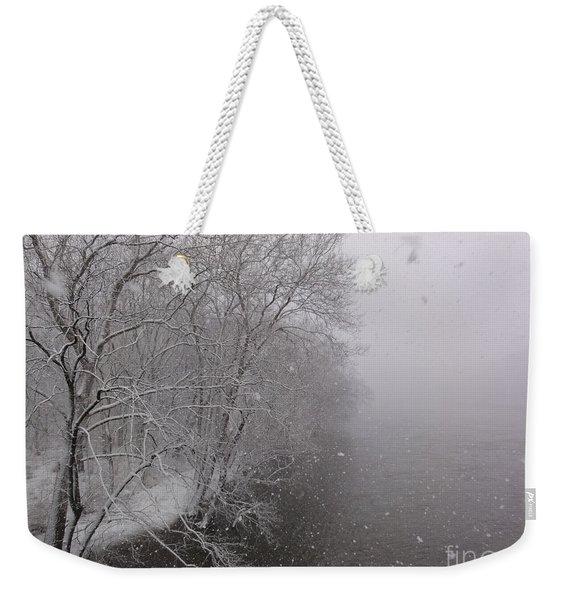 Snow At Bulls Island - 12 Weekender Tote Bag
