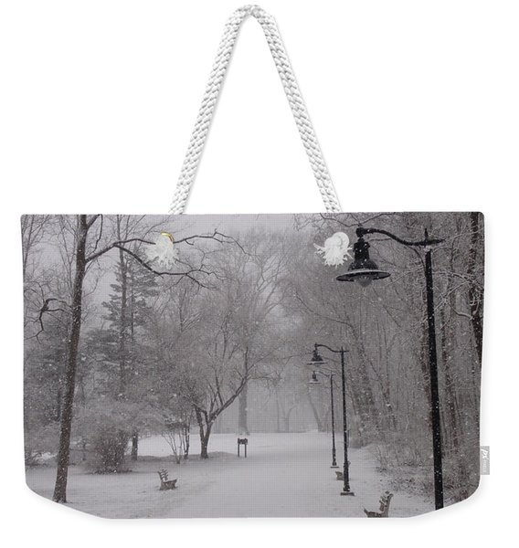 Snow At Bulls Island - 29 Weekender Tote Bag