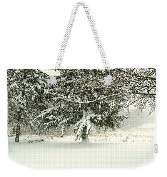 Snow-covered Trees Weekender Tote Bag
