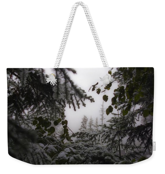 Snow In Trees At Narada Falls Weekender Tote Bag