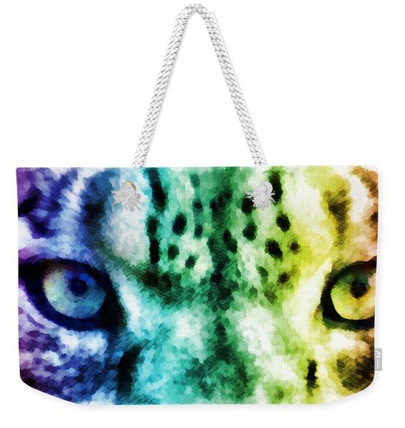 Snow Leopard Eyes 2 Weekender Tote Bag