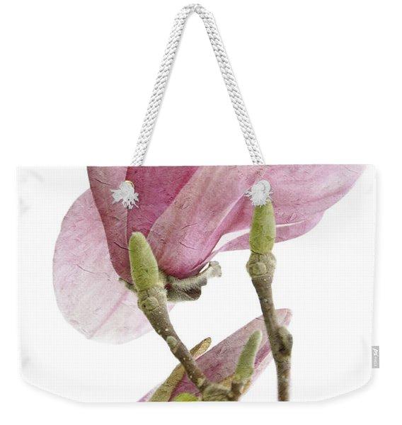 Snow Magnolia Painterly 1 Weekender Tote Bag