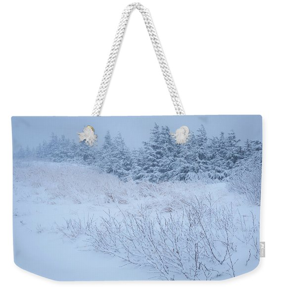 Weekender Tote Bag featuring the photograph Snow On New Years Eve by Tim Newton