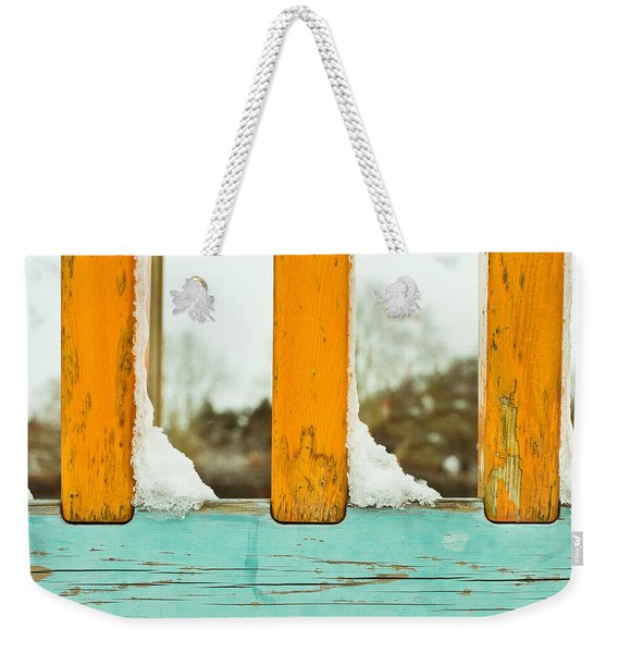 Snow On Railings Weekender Tote Bag