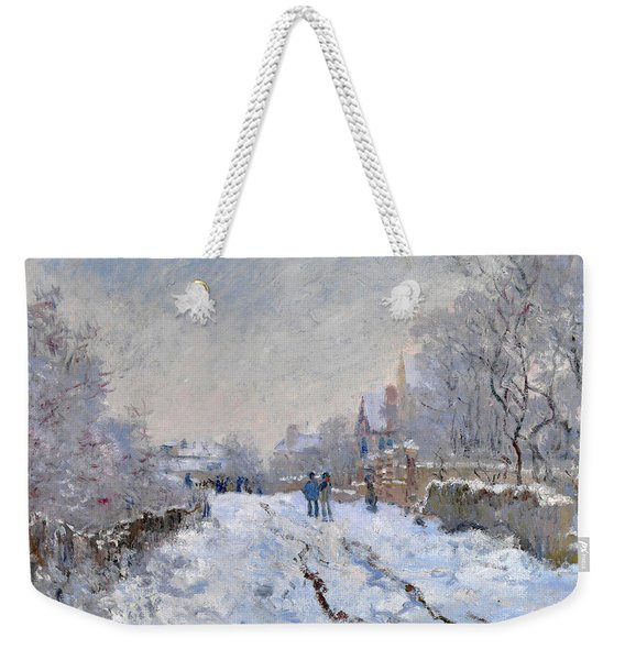 Snow Scene At Argenteuil Weekender Tote Bag