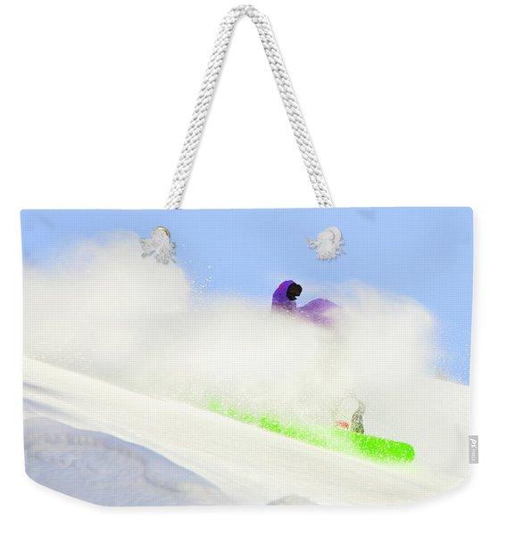 Snow Spray Weekender Tote Bag