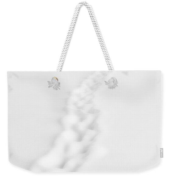 Snow Trail Weekender Tote Bag