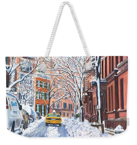 Snow West Village New York City Weekender Tote Bag