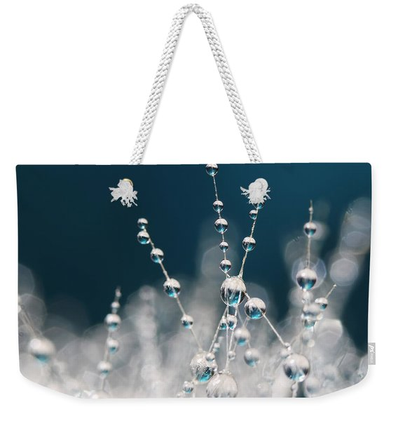 Snow White And Ice Blue Weekender Tote Bag