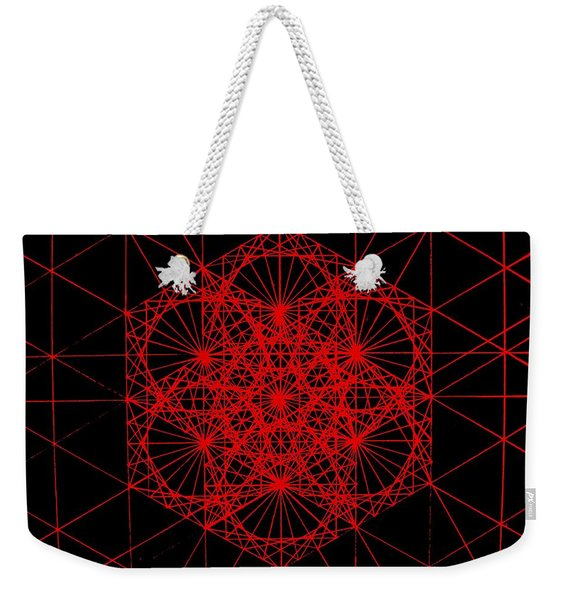 Snowflake Shape Comes From Frequency And Mass Weekender Tote Bag