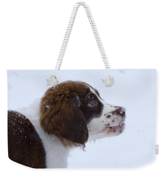 Snowflake Wonder Weekender Tote Bag