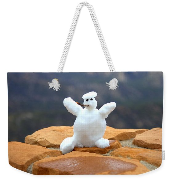Snowman At Bryce - Square Weekender Tote Bag