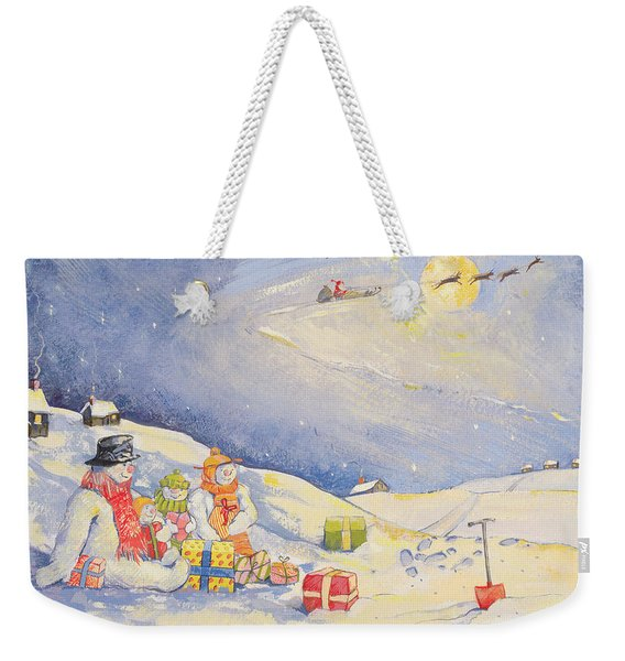 Snowman Family Christmas  Weekender Tote Bag