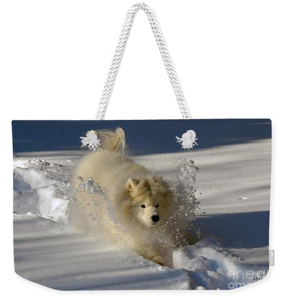 Snowplow Weekender Tote Bag