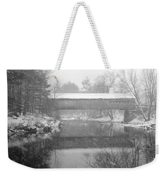 Snowy Crossing Weekender Tote Bag