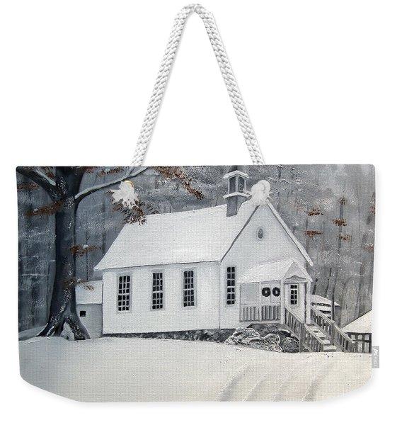 Snowy Gates Chapel  -little White Church - Ellijay Weekender Tote Bag
