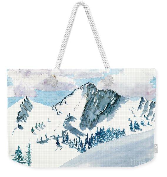 Snowy Wasatch Peak Weekender Tote Bag