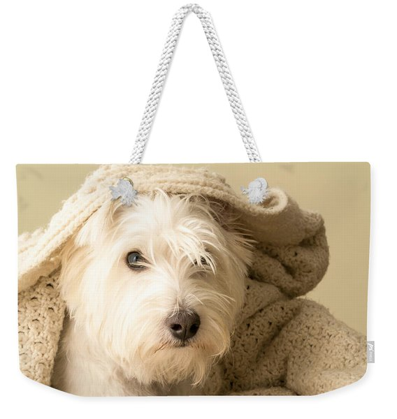 Snuggle Dog Weekender Tote Bag