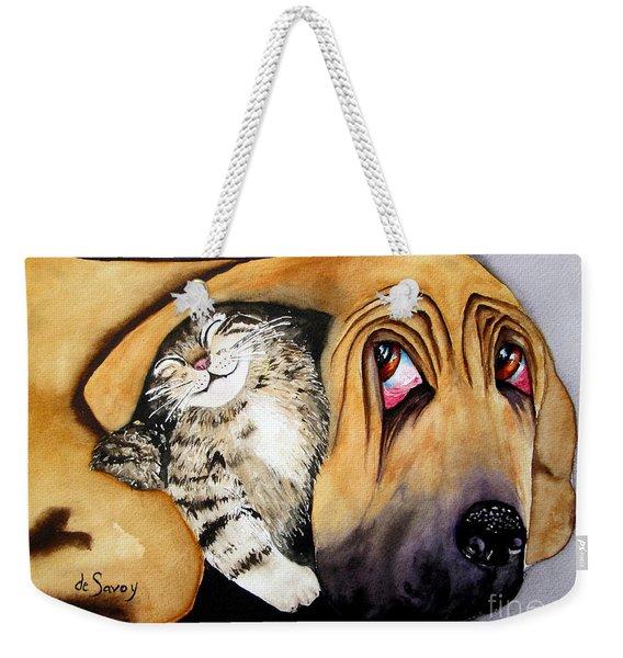 Snuggles Weekender Tote Bag