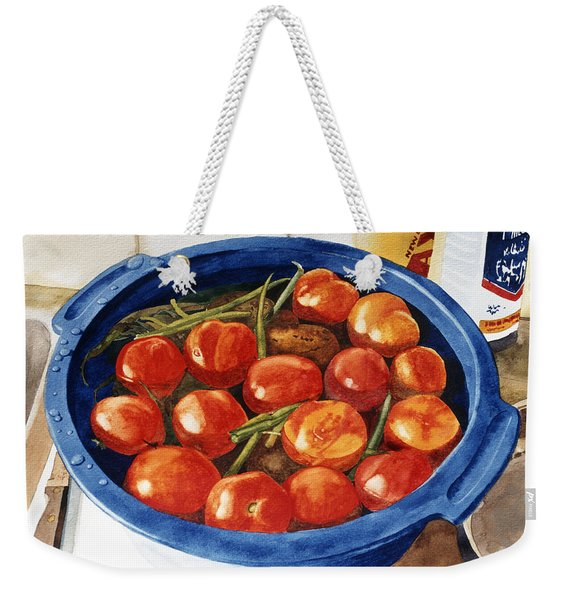 Soaking Tomatoes Weekender Tote Bag