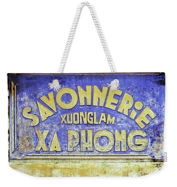 Soap Factory Sign Weekender Tote Bag