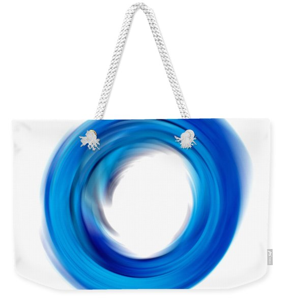 Soft Blue Enso - Abstract Art By Sharon Cummings Weekender Tote Bag