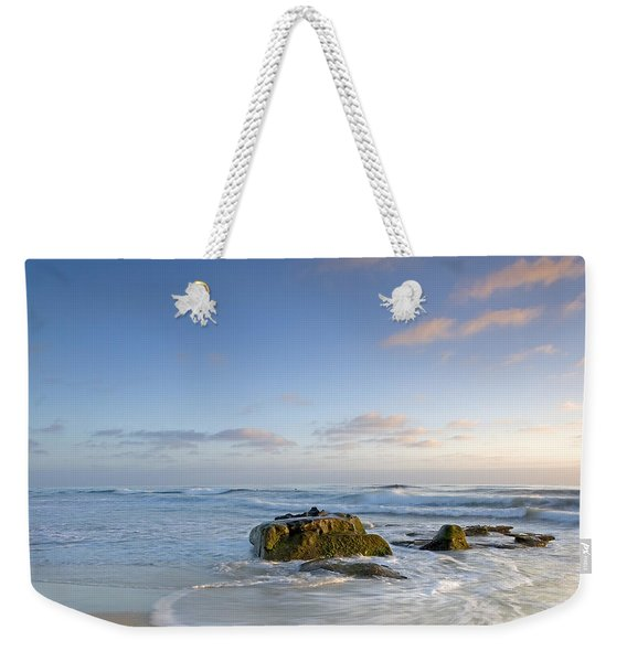 Soft Blue Skies Weekender Tote Bag