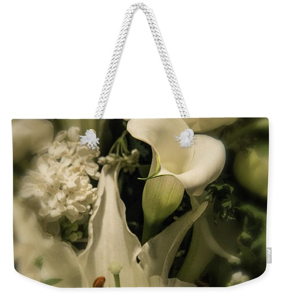Soft Calla Lily Weekender Tote Bag
