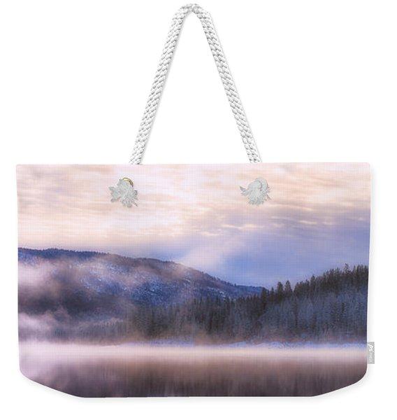 Soft Light Of Winter Weekender Tote Bag