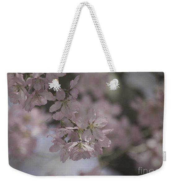 Soft Pink Texture Weekender Tote Bag