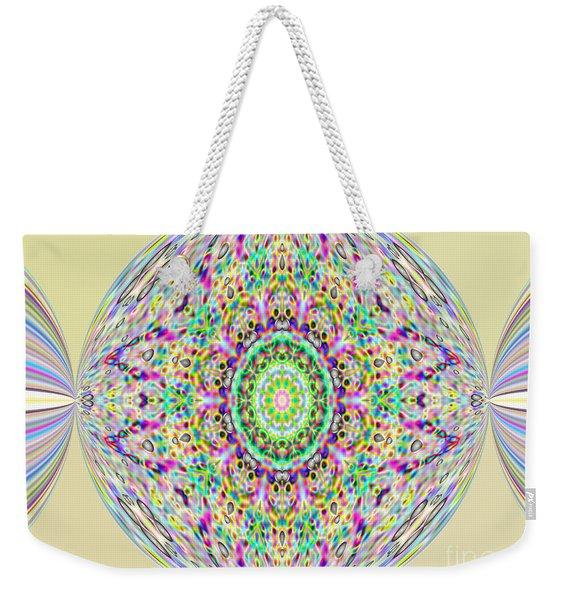 Softness. Art. Yellow Pink Design Weekender Tote Bag