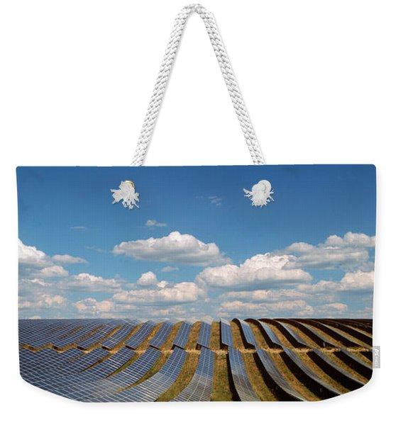 Solar Panels In A Field Weekender Tote Bag