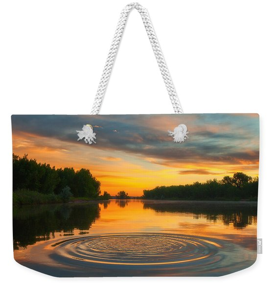 Solstice Ripples Weekender Tote Bag