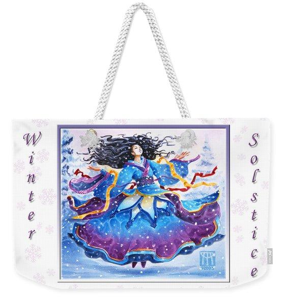 Solstice Snowfall Weekender Tote Bag