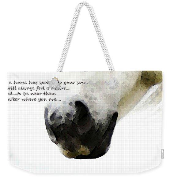 Soul Touch - Emotive Horse Art By Sharon Cummings Weekender Tote Bag