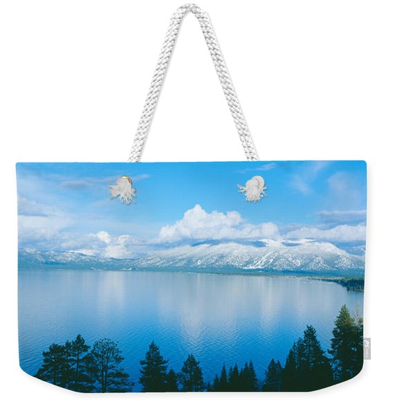 South Lake Tahoe In Winter, California Weekender Tote Bag