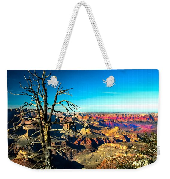 South Rim With A Red Glow Weekender Tote Bag