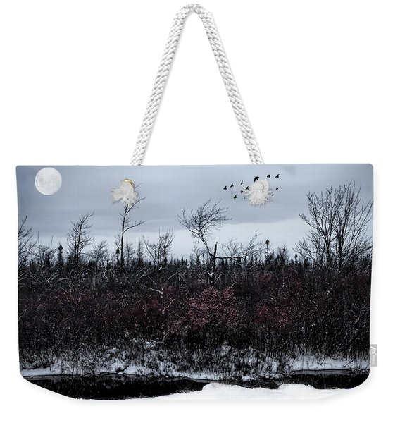 South To The Moon Weekender Tote Bag