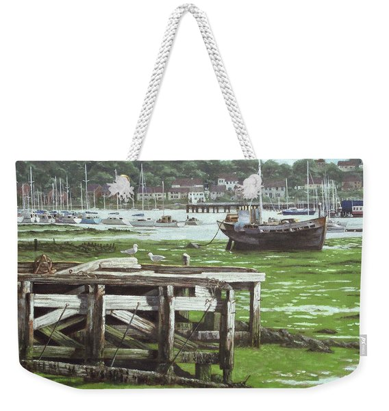 Southampton Northam River Itchen Mudflats Weekender Tote Bag
