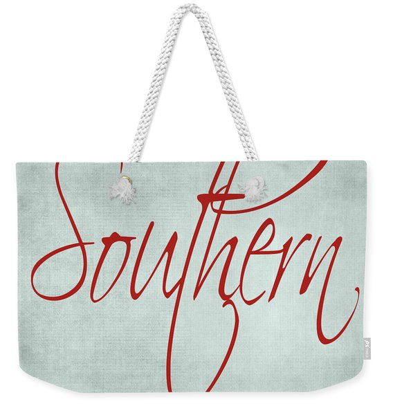 Southern By The Grace Of God Weekender Tote Bag