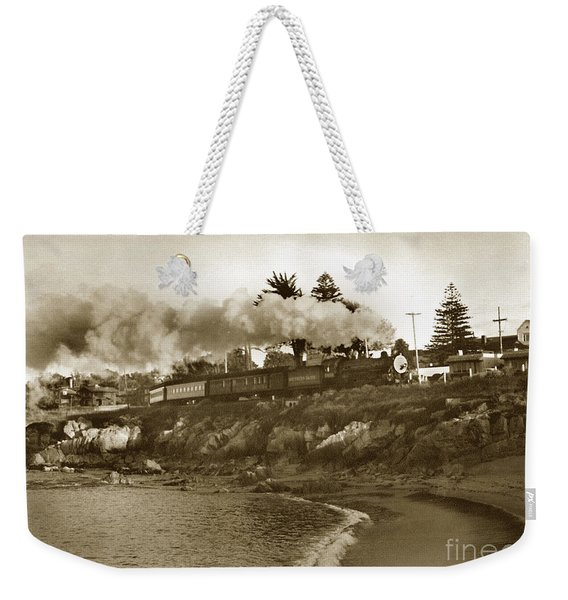 Southern Pacific Del Monte Passenger Train Pacific Grove Circa 1954 Weekender Tote Bag