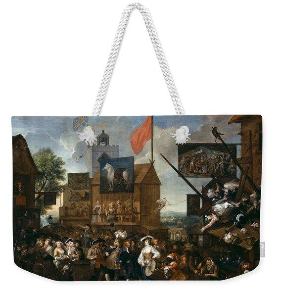 Southwark Fair, 1733 Oil On Canvas Weekender Tote Bag