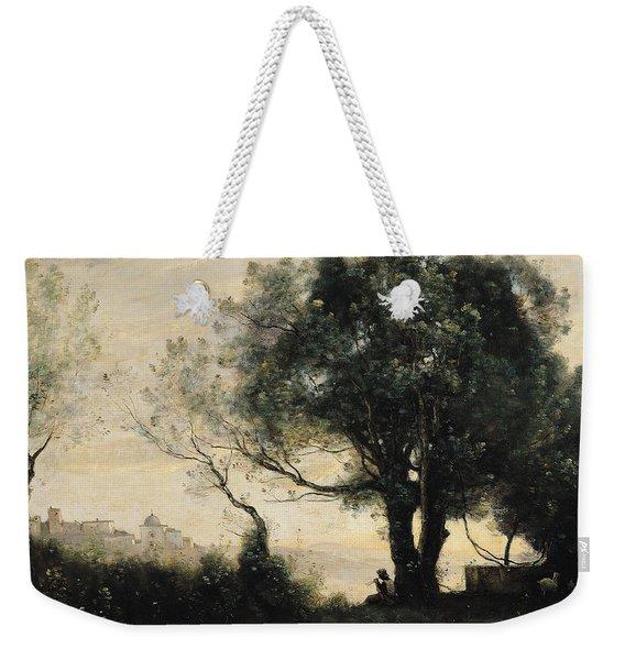 Souvenir Of Castel Gandolfo Oil On Canvas Weekender Tote Bag