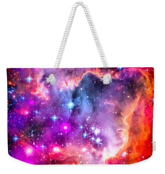 Space Image Small Magellanic Cloud Smc Galaxy Weekender Tote Bag