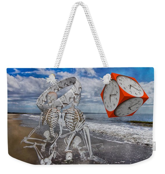 Spacexmatterxtimexx Weekender Tote Bag