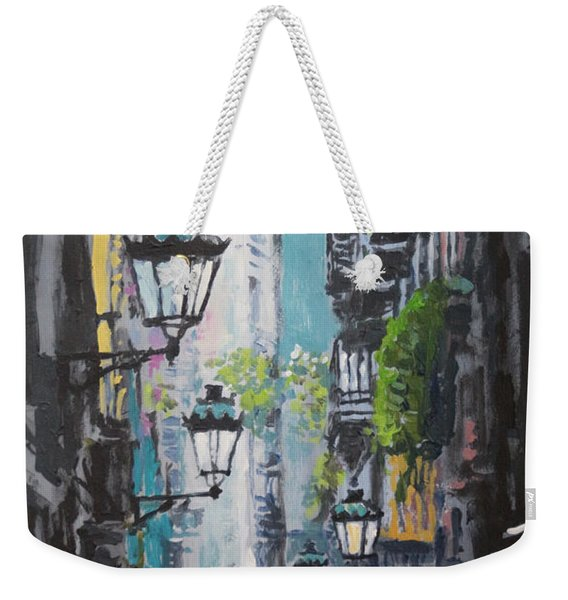 Spain Series 03 Barcelona Weekender Tote Bag