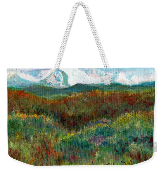 Spanish Peaks Evening Weekender Tote Bag