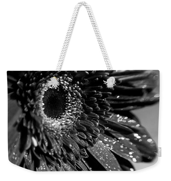 Sparkling Gerbera In Monochrome Weekender Tote Bag