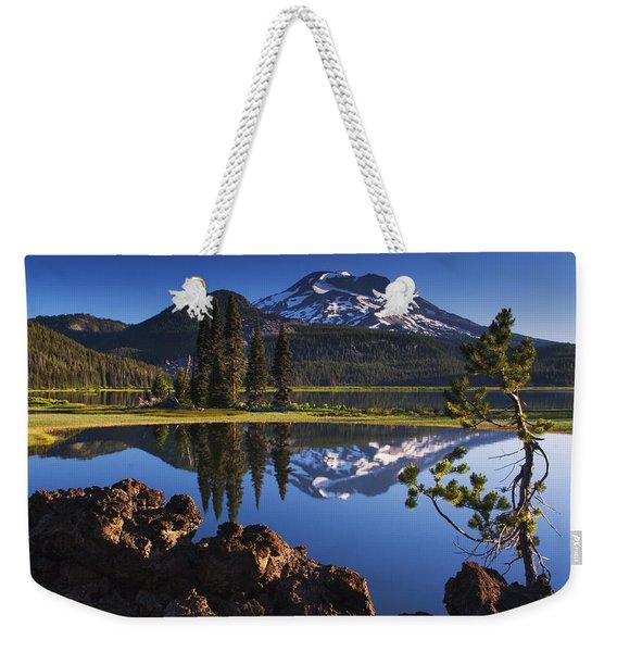 Sparks Lake Sunrise Weekender Tote Bag